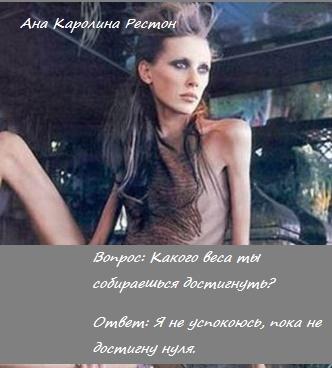 Анорексия Ана Каролина Рестон