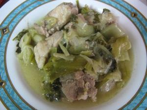 Сельдерей со свининой - греческий рецепт